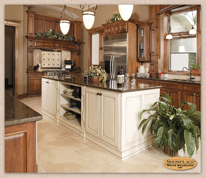 Wood: Maple Cabinet Style: Hamilton Finish: Antique Linen/Autumn Glaze:  Ebony Granite Color(s): Tropic Brown