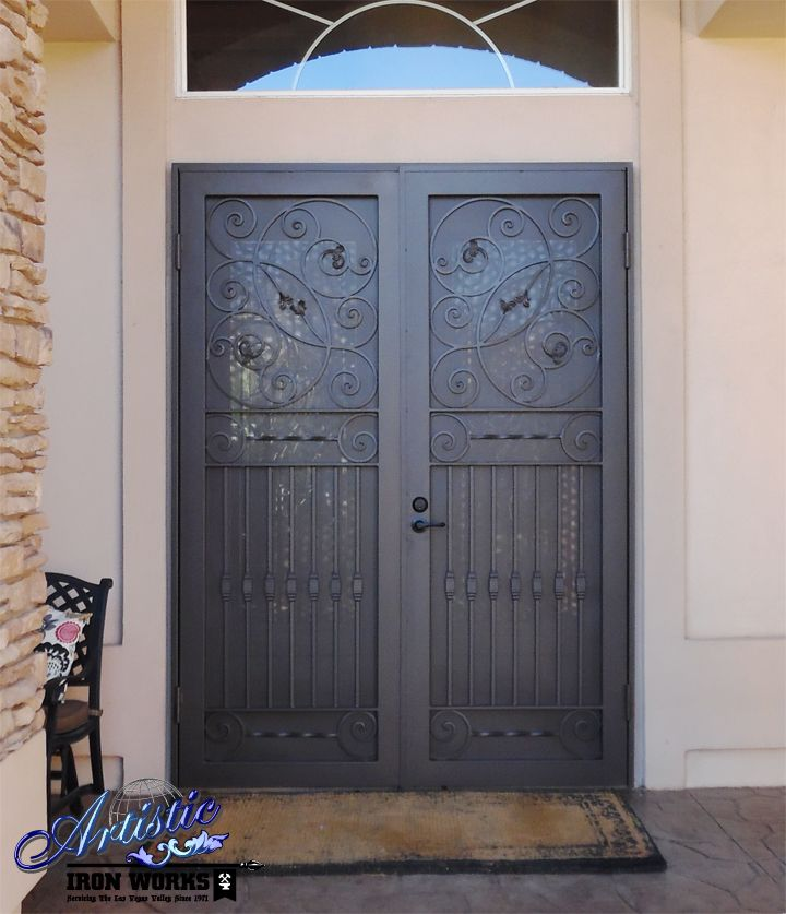 242 best images about wrought iron security doors on for Double door screen door