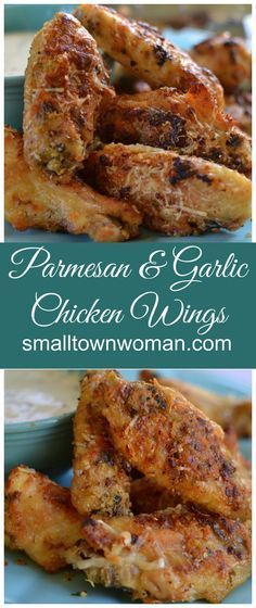 These homemade Garlic Parmesan wings are so easy to make! They are coated in garlic, Parmesan cheese and a perfect blend of spices! Your taste buds will love these flavor full wings. Perfect for your next tailgate or watch party!