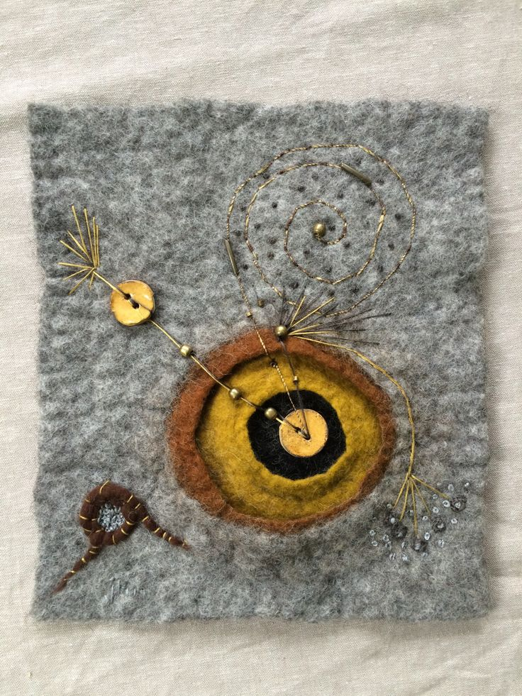 Wet felt, beads, embroidery by Jean Manrique.