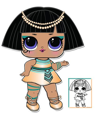 Pharaoh Series 3 L O L Surprise Doll Coloring Page Coloring Pages