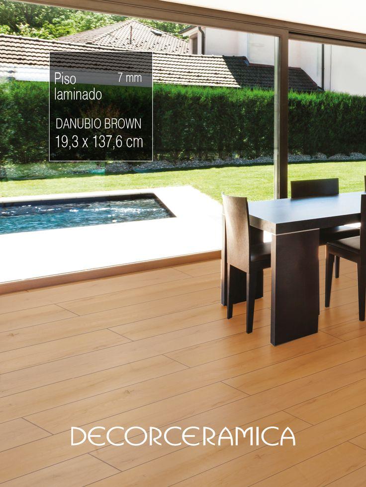 A tu casa de campo o a tu vivienda citadina dales un nuevo aire con un piso de madera laminada estilo roble europeo… Calidez y texturas que se sienten!  #fácildeInstalar #Comodidad #Calidez #Decorceramica #pisomadera #pisolaminado #casasmodernas