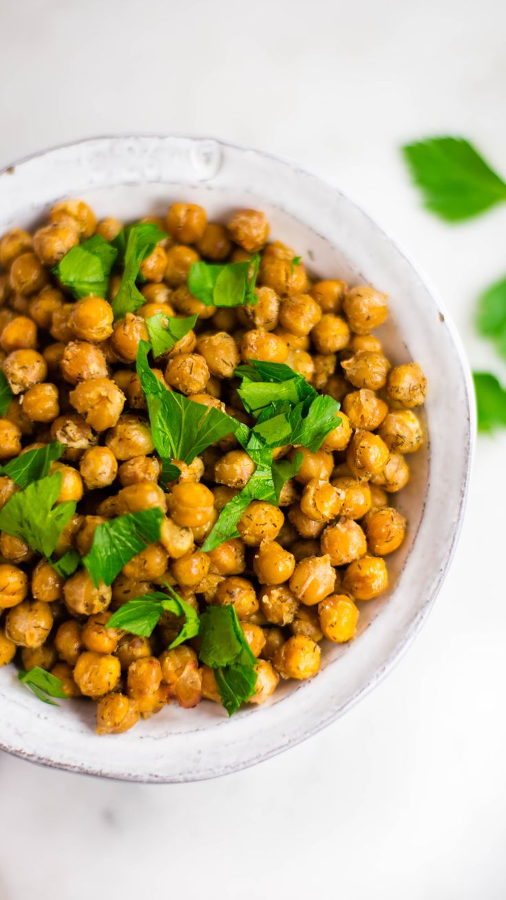 Parmesan Ranch Roasted Chickpeas   – Go-to Vegetarian Recipes