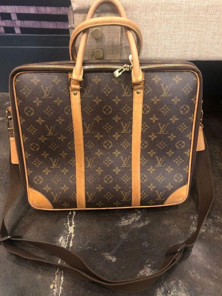 (ebay link) LOUIS VUITTON Brown Monogram Canvas Leather