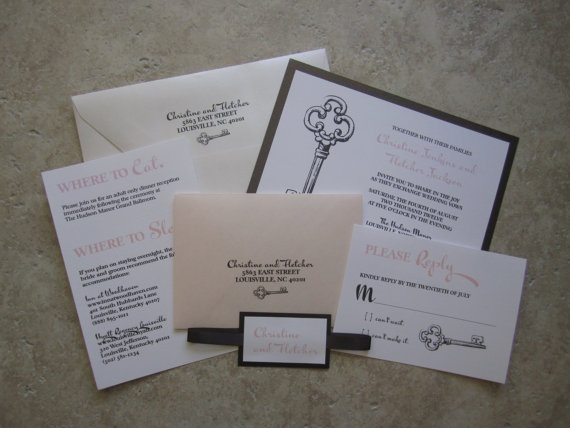 Key Themed Wedding Invitations: 47 Best Images About Lock And Key Theme. ♥ On Pinterest