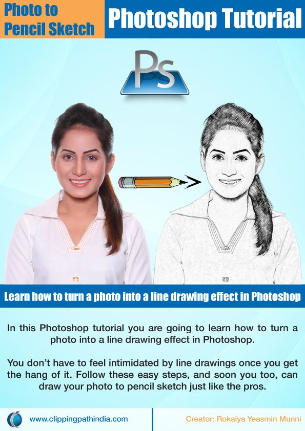Learn how to turn a photo into a line drawing effect in Photoshop.