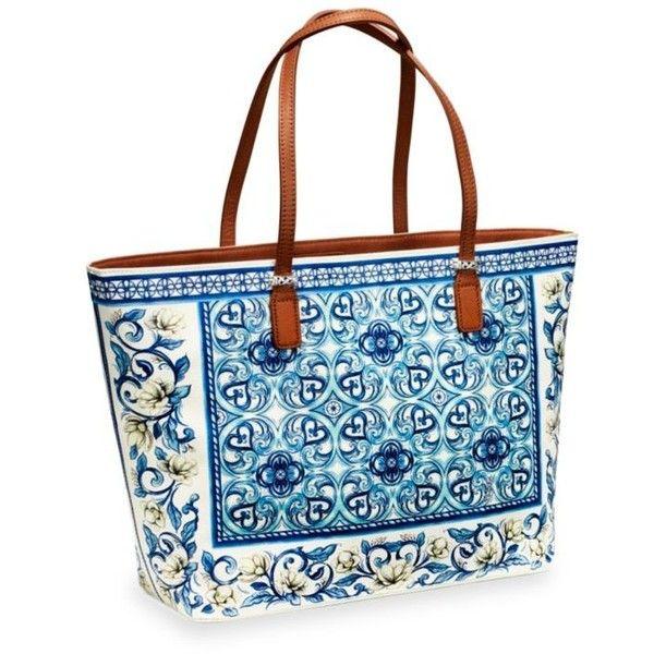 Brighton Blues Bella Capri Caprice Shopper ($320) ❤ liked on Polyvore featuring bags, handbags, tote bags, blues, brighton tote bags, blue tote, brighton purses, tote handbags and blue handbags