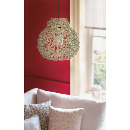 Floral Easy Fit Pendant - Cream at Homebase -- Be inspired and make your house a home. Buy now.