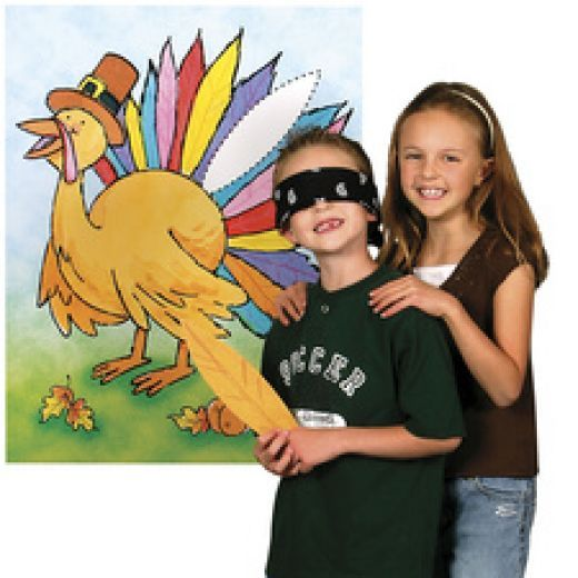 Pin the feather on the turkey game