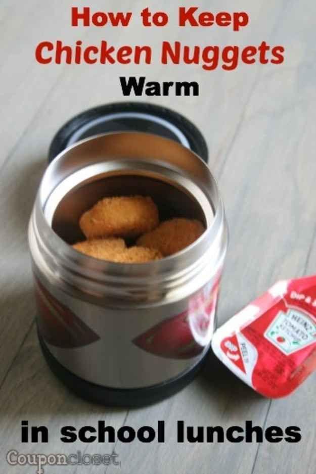 Hacks for keeping food hot.