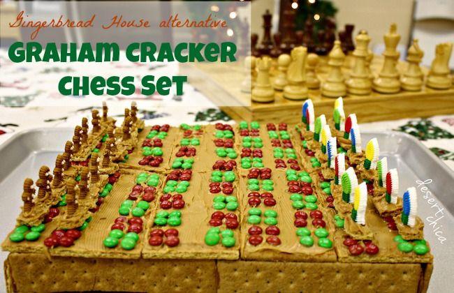 Fun Holiday Baking: Graham Cracker Chess Set and Peanut Butter Graham Cracker Balls #PBandG #AD #Yippee