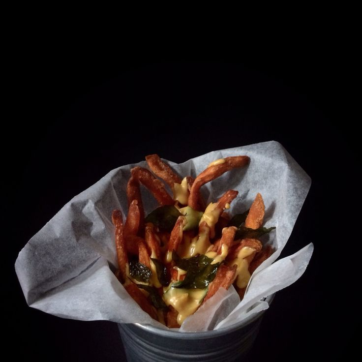 Shafumarcooks project | Sweet Potato Fries with Salted Egg Sauce | Food Photography