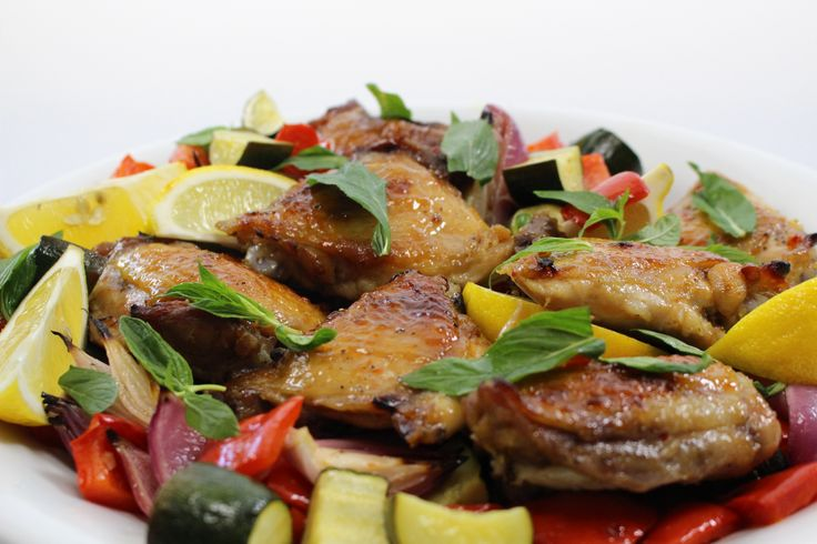Chicken with Piri Piri Lime Marinade & Mediterranean Veg. A simple, delicious, one-pot wonder of a dish. #Woolworths #recipe #chicken http://www2.woolworthsonline.com.au/shop/ContentView/10275?page=852