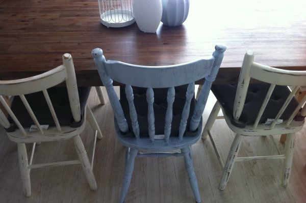 How to shabby-chic a dining table chair