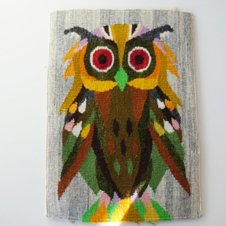 Swedish Flemish owl tapestry