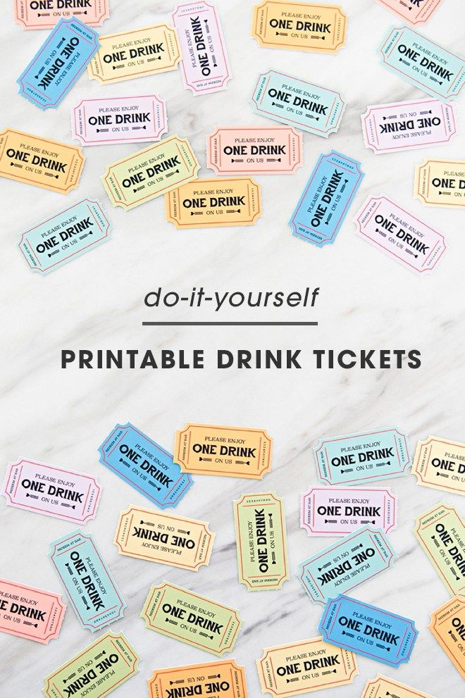 These Free Printable Wedding Drink Tickets Are So Freaking Cute Drink Ticket Wedding Drink Tickets Free Wedding Printables