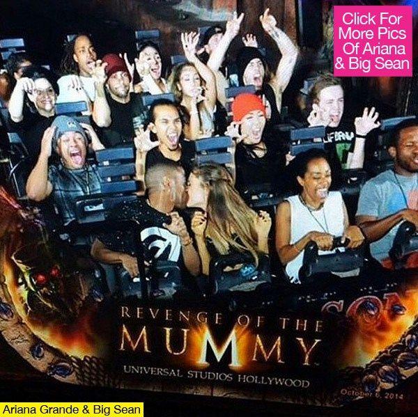 Ariana Grande & Big Sean Share Hot Kiss At Halloween Horror Nights