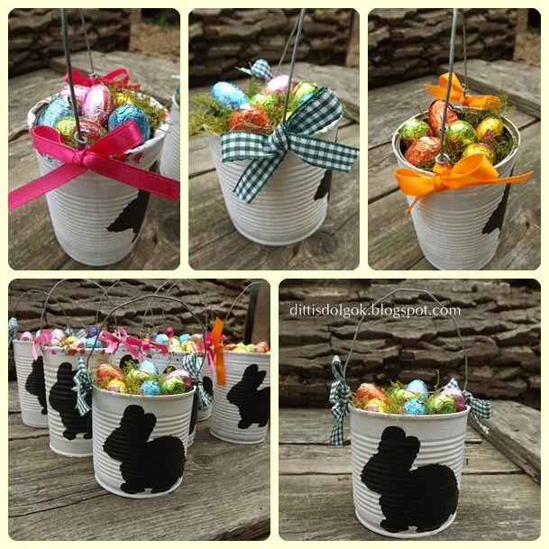 diy Easter can basket