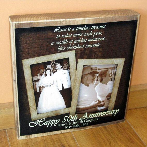 50th Wedding Anniversary PERSONALIZED Photo by WasteNotRecycledArt, $42.00