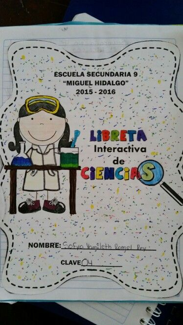 Portada Libreta interactiva | Actividades Ciencias Libreta ...
