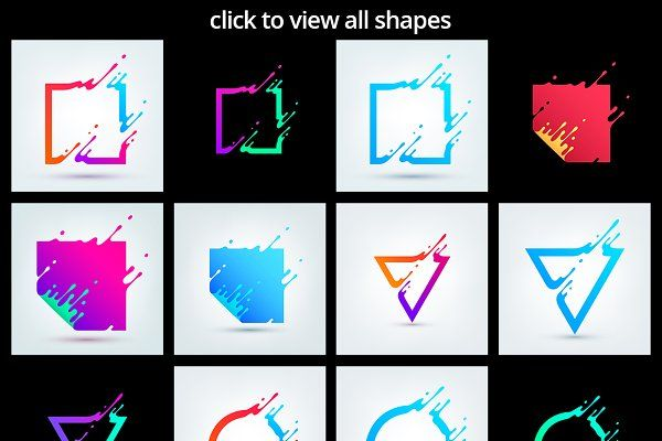 Set of vector shapes - Objects
