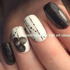 30 Simple & Trending White Nail Design-Ideen #whitenails #naildesigsn