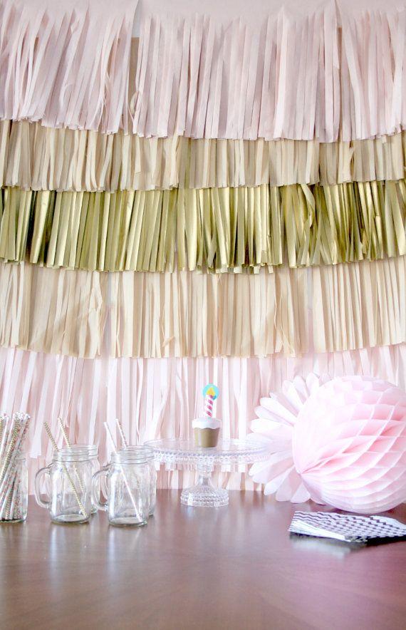 Wedding Backdrop Fringe Curtain, Photography Background, Photobooth backdrop, Photo Backdrop, Buffet Table Decor, Party Decorations, diy kit