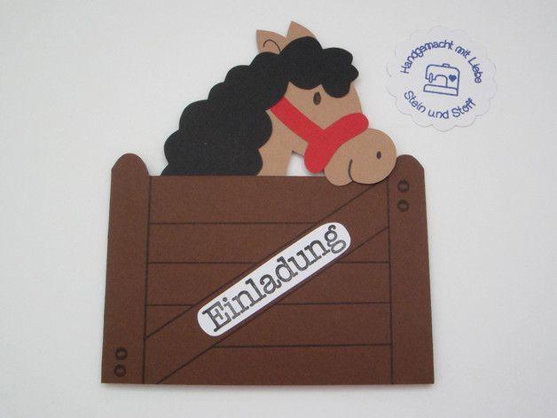 einladungskarte pferd braun ponyhof einladungskarten. Black Bedroom Furniture Sets. Home Design Ideas