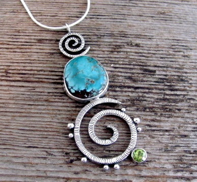 First Tide In Sterling Turquoise and by DeliasStudioLimited, $165.00