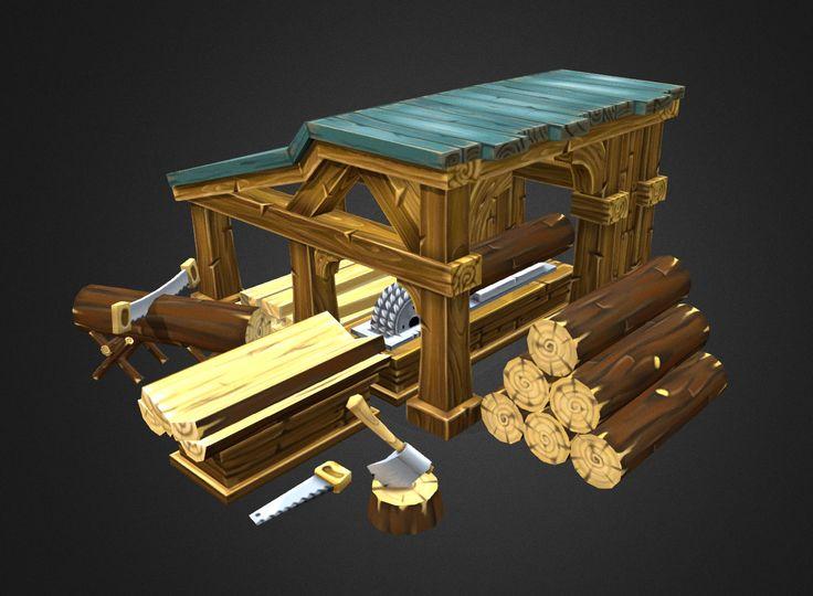 ArtStation - Lumber mill, Eduardas Lukosiunas