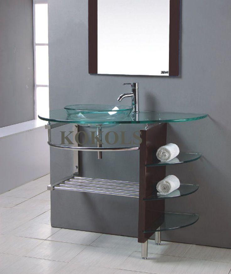 Modern Bathroom Glass Vanities 23 best bathroom vanity images on pinterest | bathroom ideas