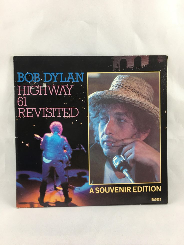 Bob Dylan Highway 61 Revisited, It Ain't Me Babe, Souvenir Edition, 45 RPM, Gatefold Sleeve, Bob Dylan Live, 45 Vinyl Album GA5020, 1984 by CapeCodModern on Etsy