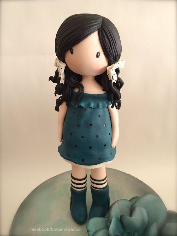 "Hi! this is the ""Gorjuss Doll Cake"" I've made yesterday for my great, great friend Isabel :-)"