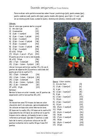 Duende - Elfo Amigurumi - Patrón Gratis en Español (5 páginas) aquí: http://de.slideshare.net/daxarabalea/patrn-duende-amigurumi