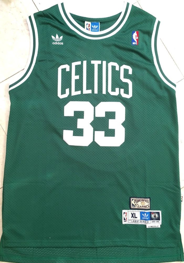 5ccc52fa2ea LARRY BIRD  33 Boston Celtics Green Swingman Hardwood Classics Mens Jersey  NWT
