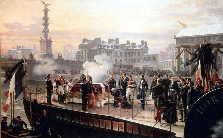 L'arrivée de la Dorade à Courbevoie le 14 décembre 1840, Félix Philippoteaux, 1867, château de Malmaison.