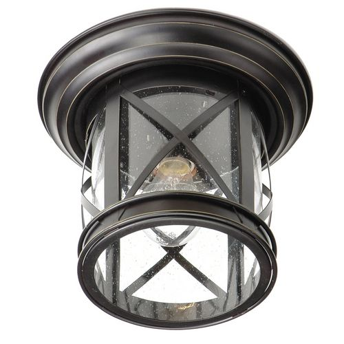 Front porch light. (Lowe's, $44.06)  We used this same light fixture as an indoor light in our master bath in my last house and loved it! Got lots of compliments on it!! ~CH