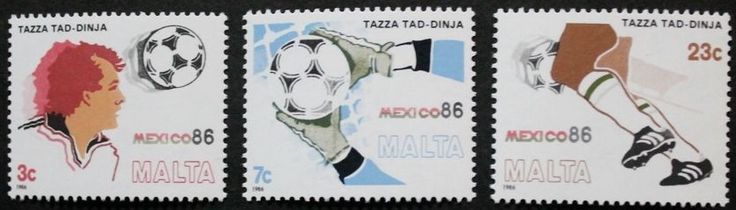 World cup football championship in Mexico stamps, 1986, Malta, SG ref: 781-783