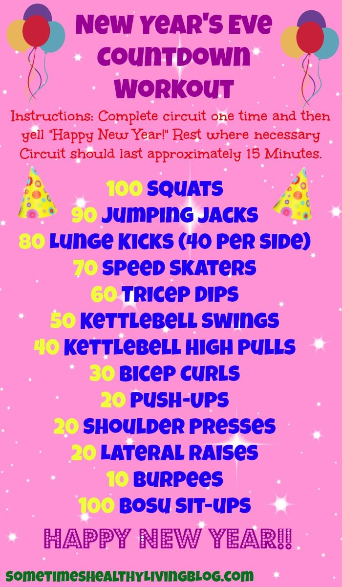 A New Years Countdown Workout: 15 Minute Full Body Workout. New Year, New York  SometimeHealthyLivingBlog.com