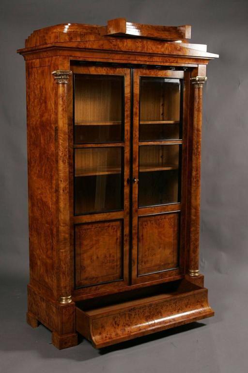 20th Century Biedermeier Style Vitrine Cupboard For Sale at 1stdibs