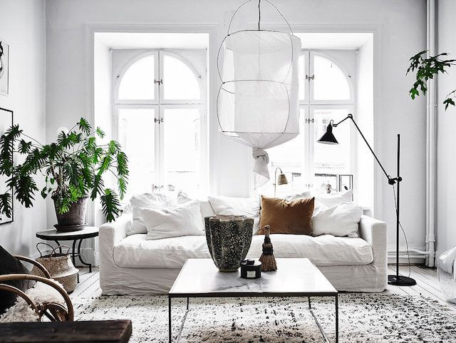 A serene Swedish home with Autumn accents