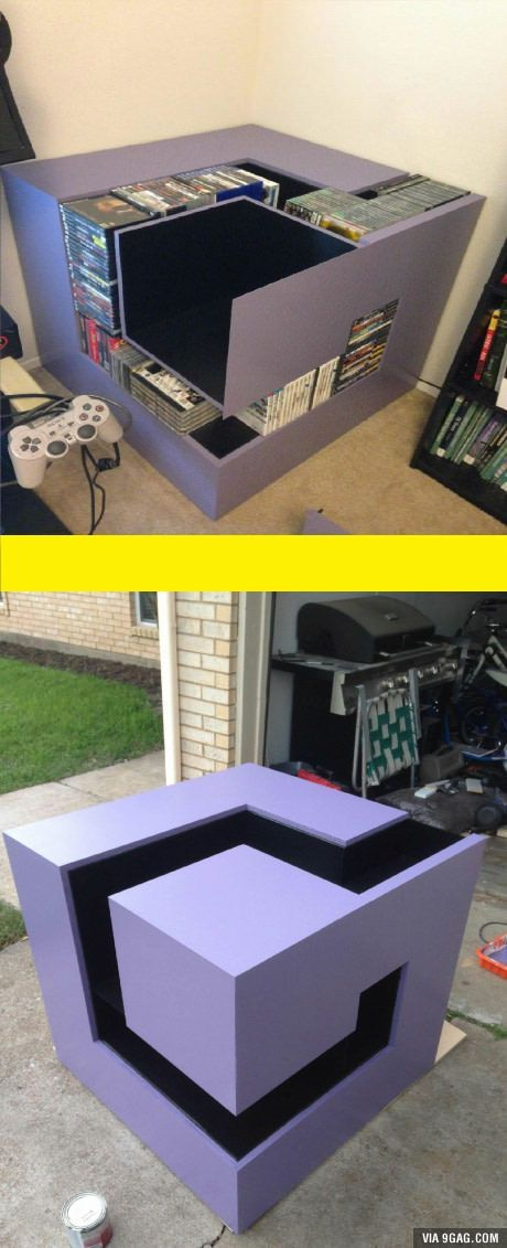 Built a gamecube shelf with my best friend. What do you guys say?//FREAKING AWESOME