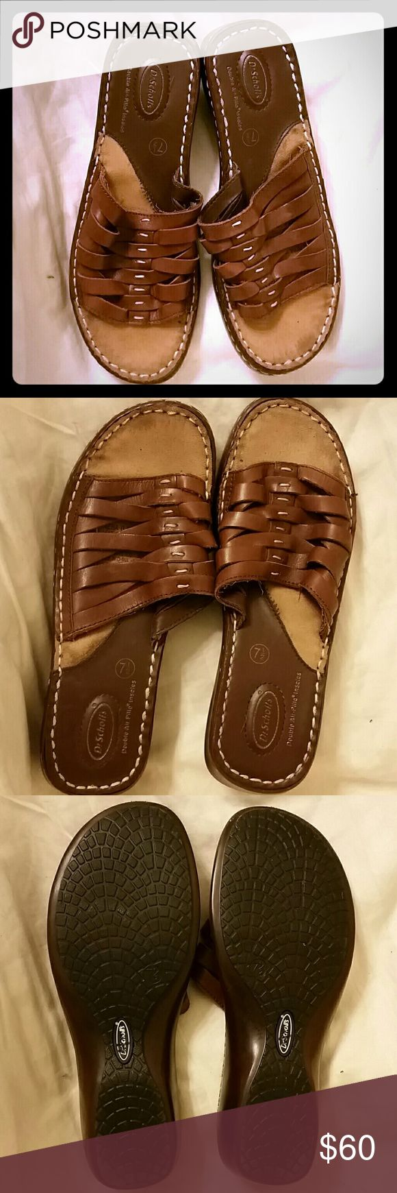 *$3.95s&H* Dr Scholes leather shoes *Bogo sale* Selling for someone else so I do not have info other than they are in good used condition  She is looking at all reasonable offers  Included in bogo sale Dr. Scholl's Shoes Sandals