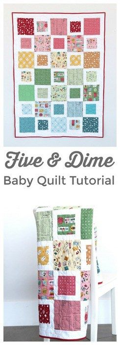 Beginner Friendly, Fast & Free, Five & Dime Quilt Tutorial by Amy Smart of Diary of a Quilter using Penny Rose Fabric