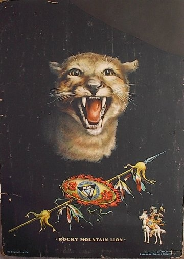 Colorado Midland Railway Rocky Mountain Lion Poster. The Midland Route traveled into Ute Pass and made regular stops in Cascade #Colorado: Rocky Mountain, Mountain Lion
