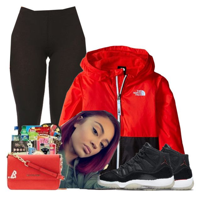 """Untitled #1066"" by bubblesthegr8t ❤ liked on Polyvore featuring The North Face and NIKE"