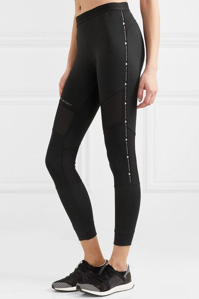 bccd2de1217a2 adidas by Stella McCartney | + Parley for the Oceans Performance Essentials  mesh-paneled stretch leggings | NET-A-PORTER.COM