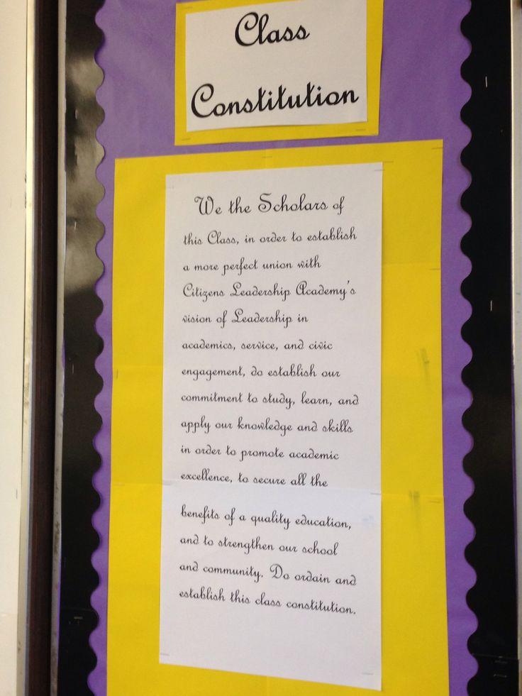 Class Constitution.
