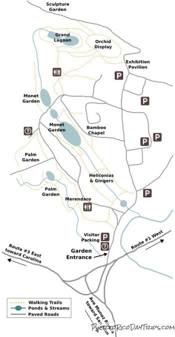 UPR Garden Map San Juan Botanical Gardens