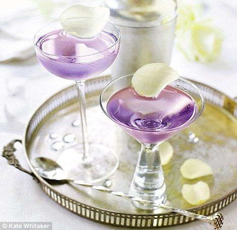 Salvatore Calabrese's cocktail for the Queen (gin, violette liqueur, champagne and white rose petals)
